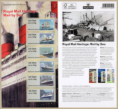 2018 ROYAL MAIL HERITAGE: MAIL BY SEA POST & GO SET Mint + Presentation Card