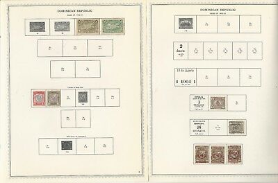 Dominican Republic Collection 1865 to 1964 on 93 Minkus Specialty Pages