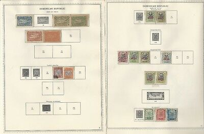 Dominican Republic Collection 1865 to 1962 on 81 Minkus Specialty Pages