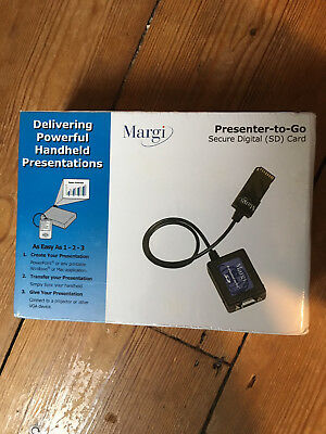 Margi Presenter-to-go Secure Digital SD Card Model 24003 NEW SEALED IN BOX