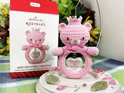 Hallmark Baby's First Christmas ornament 2014 Pink Girl