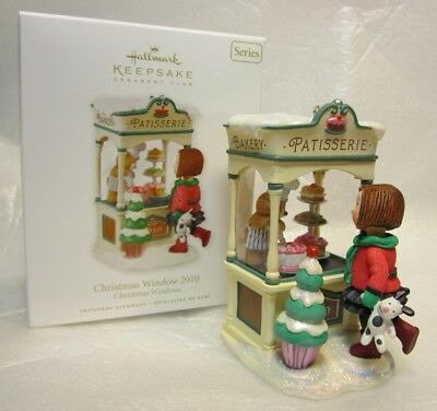 Hallmark Keepsake Ornament Club Christmas Window 2010 Patisserie #8 Series NEW