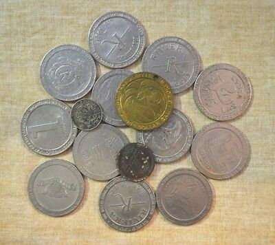 Lot Of Used Gaming Tokens - Various Sizes & Styles
