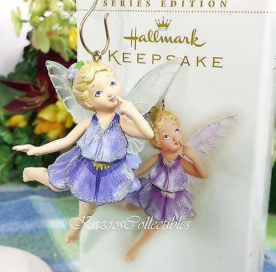 Hallmark Pansy Fairy ornament 2006 Fairy Messengers 2nd in series NIB