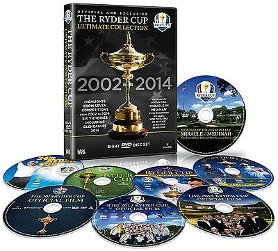 Ryder Cup Ultimate Collection 2002+2004+2006+2008+2010+2012+2014 [DVD] NEU Golf