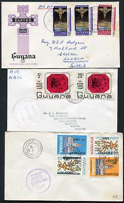 GUYANA: (17939) BOURDA etc cancel/cover