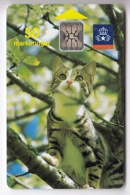 Europe  Telecarte / Phonecard .. Suede 50Mk Sc5 St Chat Cat  08/91 Ge.34703 Puce