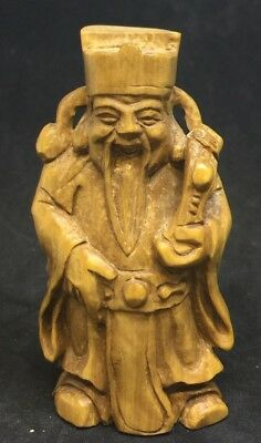 Japanese Carved Wooden Signed By Artist 50mm Rare