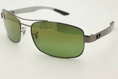 50bf99c008 Ray Ban RB8318 Chromeance Sunglasses 004 6O Gunmetal Polarized Green Lens +  Case