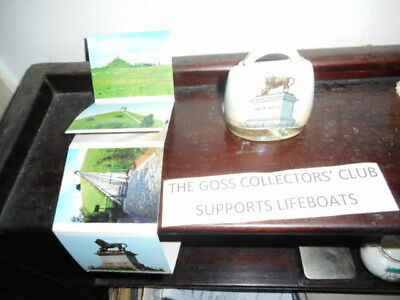 Unmarked Crested China Swiss Cow Bell - CT Waterloo Memorial + other pictures