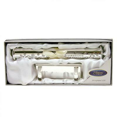 Silver Plated Wedding Certificate Holder & Stand