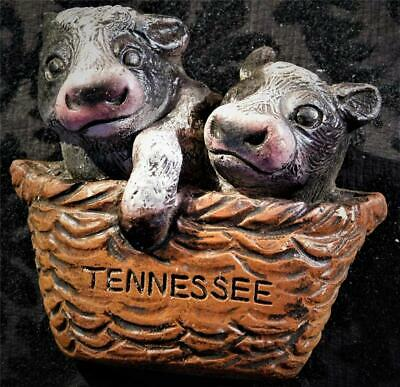 "Tennessee Refrigerator Magnet Two Baby Calfs in a Basket 3D  2-5/8"" x 2-1/4"""