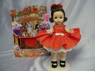 Madame Alexander-kins BKW Brunette Up-Do Doll Kins Tagged Outfit SWEET