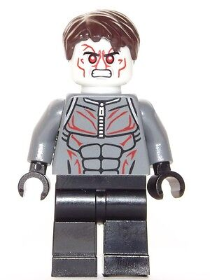 Lego Minifigure Head Super Heroes Iron Man Extremis Soldier H43
