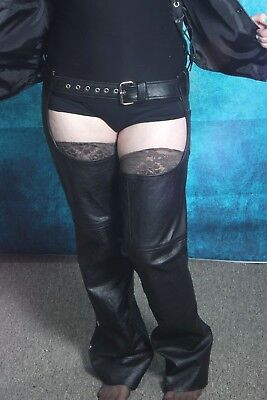 Ladies Motorcycle Chaps Size Small. Genuine Leather