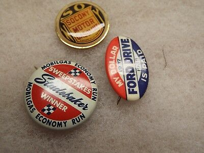 Vintage Gas/Oil BUTTON  PIN LOT