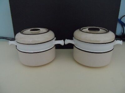2 x DENBY SOUP BOWLS WITH LIDS