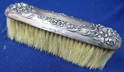 Antique Mauser Mfg. Co. 925 Weighted Sterling Silver Vanity Brush 83g