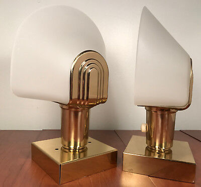 Italian brass Art Deco Wall Sconces Hollywood Regency Italy Modern mid century