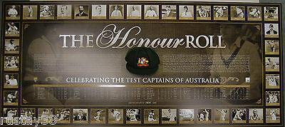 The Honor Roll Australian Captains Limited Edition Print  Bradman  Ponting Waugh