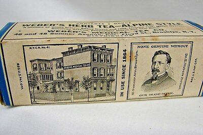 Antique Early Vintage Unopened Box Quack Medical Weber's Herb Tea