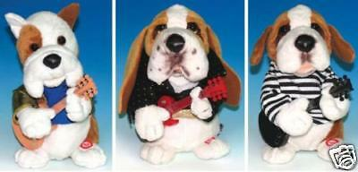 "ELVIS PRESLEY - 9"" Singing Guitar Dogs Plush Set (3) #NEW"