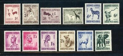 South West Africa MNH: Scott #249-260 Cave Paintings FAUNA CV$60+