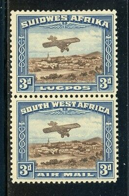 South West Africa MNH: Scott #C5 3p Monoplane over Windhoek CV$30+