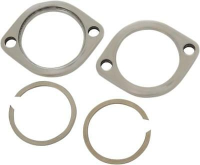 DS Exhaust Flange Kit Stainless Steel Polished Harley FLSTFB Fat Boy Lo 10-14