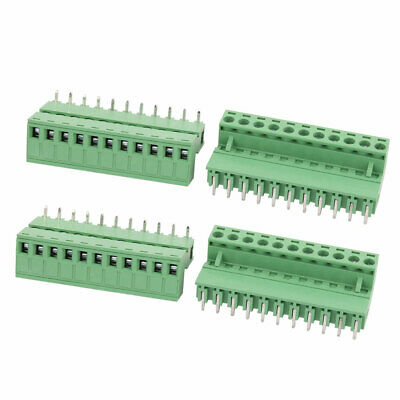 4 Sets 300V 10A 5.08mm Pitch 11P Male Female PCB Screw Terminal Block Connector