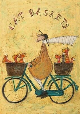 Sam toft greeting card bicycle cat baskets 295 picclick uk sam toft greeting card bicycle cat baskets m4hsunfo