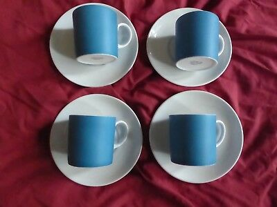 Susie Cooper/Wedgwood Pimento c2149 4 Pairs of Coffee Cups and Saucers