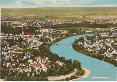 Germany (W) - View of River & Town of Muhldorf (Post Card) 1960's