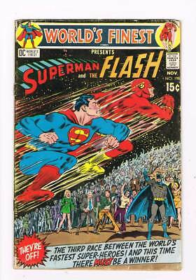 Worlds Finest Comics # 198 Superman and The Flash ! grade 3.5 scarce book !!