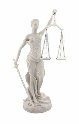 Greek Lady Justice Goddess Themis Scale of Justica Blind Folded Figurine Statue