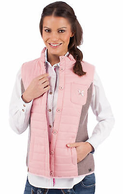 Spieth & Wensky Traditional Costume Quilted Vest Elke Rosa Taupe