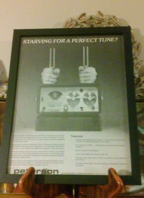 Framed PETERSON STROBE TUNERS features vintage photo print ad