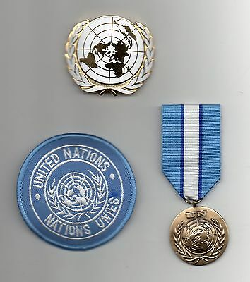 United Nations Medal For Cyprus,un Beret Badge And Sleeve Badge -Superb Lot