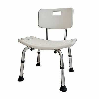 Shower Chair Shower Stool Adjustable Height With Angles Legs Backrest Bath Seat