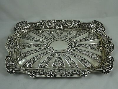 ATTRCTIVE VICTORIAN silver DRESSING TABLE TRAY, 1898, 309gm