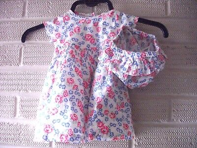 New with tags cath kidston baby shirred dress with brief 0-3 month