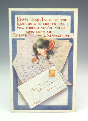 Vintage Love Letter Post Office Royal Mail Themed Postcard - Unusual!