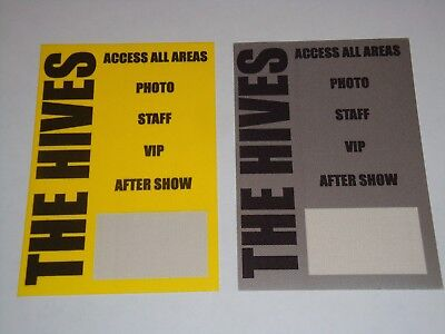 THE HIVES 2 UNUSED BACKSTAGE CONCERT AA PASSES pass Howlin' Pelle Almqvist