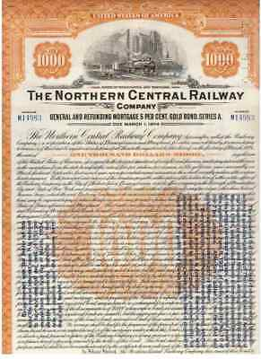 Lot: 4 Northern Central Railway Company  1924