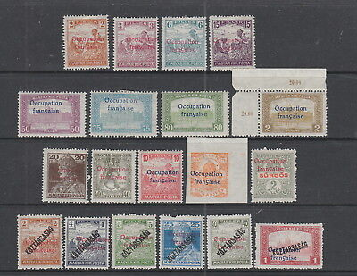 Hungary Arad French Occupation MH collection 19 stamps.
