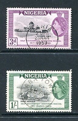 Nigeria: 1959 Self-Government Set of 2 Stamps SG83-84 Fine Used AZ100
