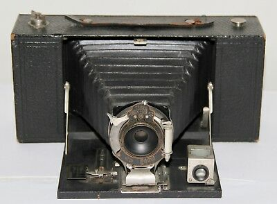 Kodak No. 3-A Folding Brownie Model A Black Bellows Uses 122 Film Made In 1914