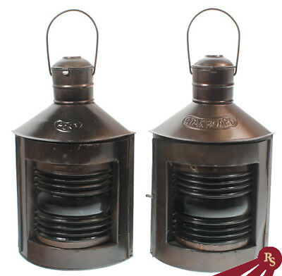 """10"""" SHIP LAMPS - Port and Starboard - OIL LANTERNS"""
