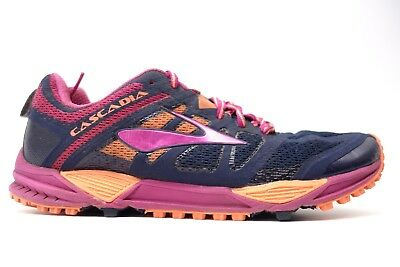4b3e24a0f00 Womens Brooks Cascadia 11 Mesh Cushioned Trail Running Athletic Shoes Size  6.5