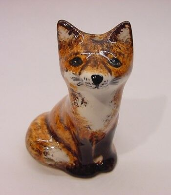 Babbacombe Pottery Pie Bird Funnel Vent  ** small FOX ** Made in ENGLAND
